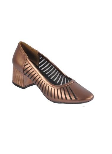 Maje 2127 Ten Kadın Topuklu Ayakkabı Bakır